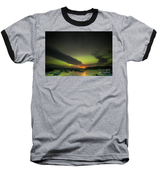 Northern Lights  Baseball T-Shirt by Mariusz Czajkowski