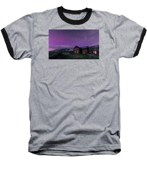 Northern Lights On Boreas Pass Baseball T-Shirt by Michael J Bauer