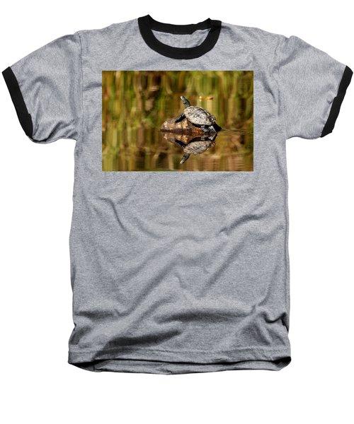 Northern Map Turtle Baseball T-Shirt