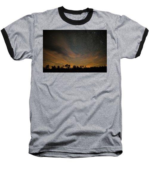 Northern Sky At Night Baseball T-Shirt