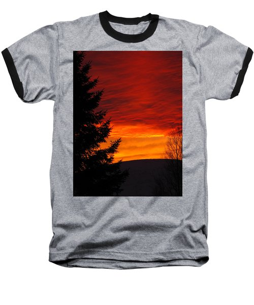 Northern Sunset 2 Baseball T-Shirt