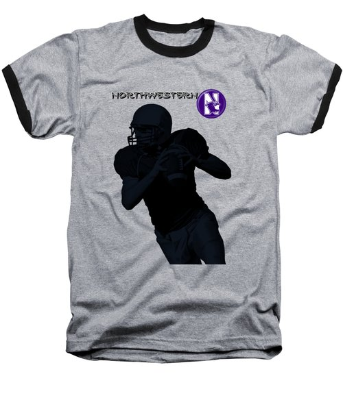 Northwestern Football Baseball T-Shirt