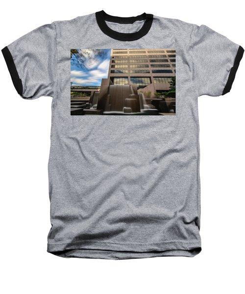 Baseball T-Shirt featuring the photograph Northwestern Mutual Waterfall by Randy Scherkenbach
