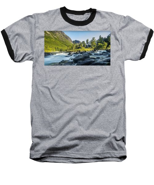 Norway II Baseball T-Shirt by Thomas M Pikolin