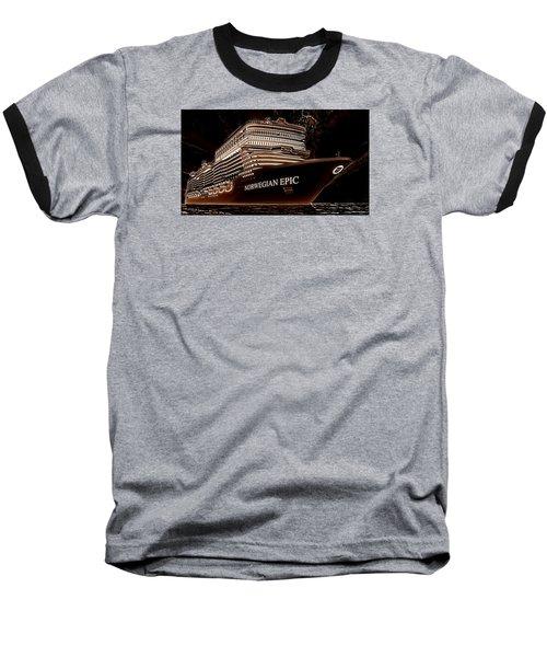 Baseball T-Shirt featuring the photograph Norwegian Epic by Mario Carini