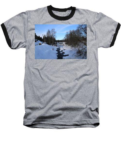 Norwegian Winter Landscape.  Baseball T-Shirt