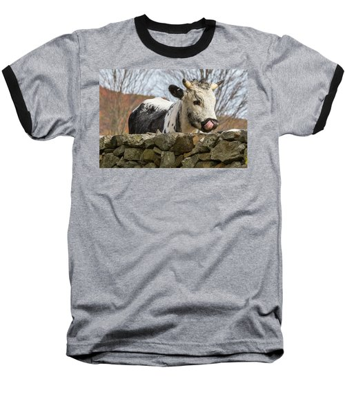 Baseball T-Shirt featuring the photograph Nosey by Bill Wakeley