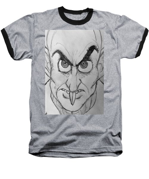 Nosferatu Baseball T-Shirt by Yshua The Painter