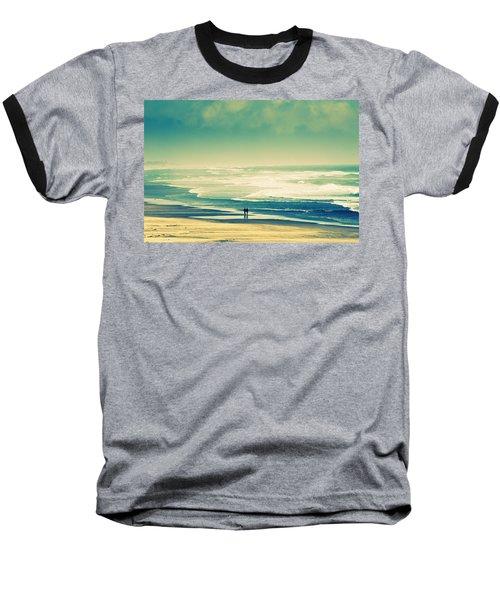 Nostalgic Oceanside Oregon Coast Baseball T-Shirt by Amyn Nasser