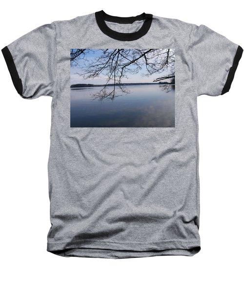 Baseball T-Shirt featuring the digital art Not A Ripple by Barbara S Nickerson