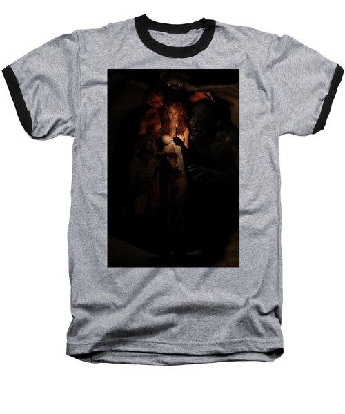 Not Alone In The Dark Baseball T-Shirt