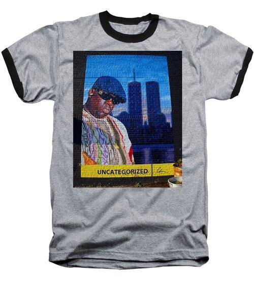 Notorious B.i.g. Baseball T-Shirt by  Newwwman