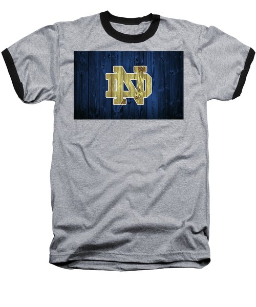 Notre Dame Barn Door Baseball T-Shirt by Dan Sproul