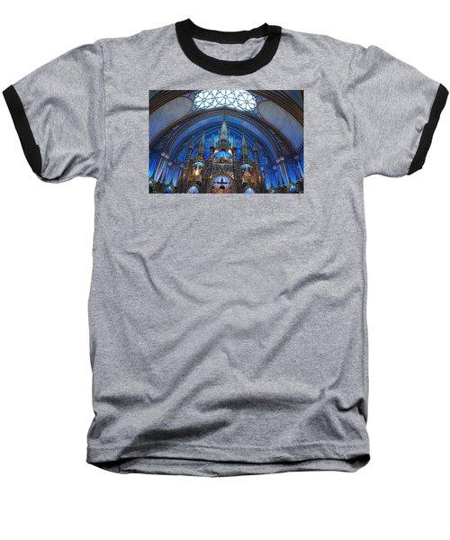 Notre Dame Basilica Baseball T-Shirt by John Schneider