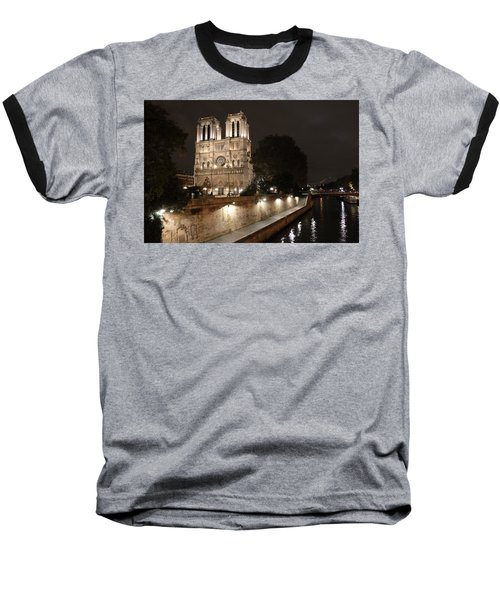 Baseball T-Shirt featuring the photograph Notre Dame Cathedral From Petit Pont by Christopher Kirby