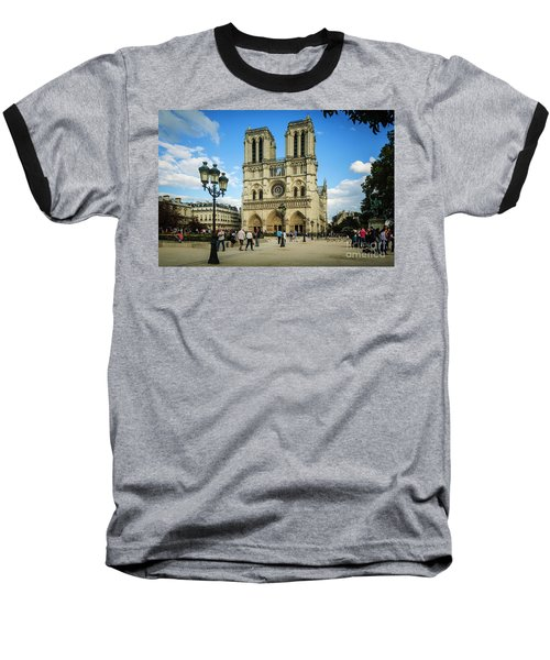Notre Dame Cathedral Baseball T-Shirt
