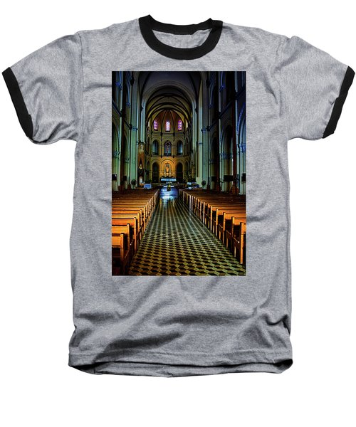 Baseball T-Shirt featuring the photograph Notre Dame Cathedral Saigon by Joseph Hollingsworth