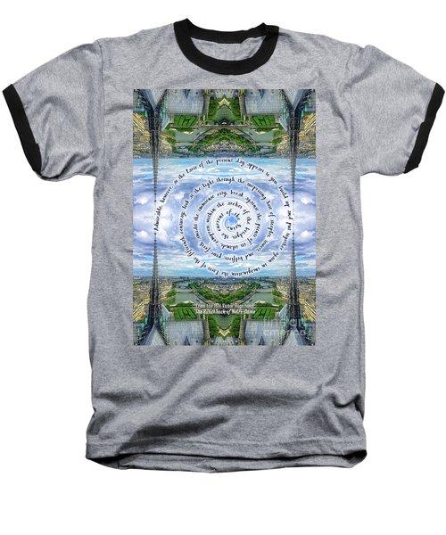 Notre-dame Cathedral Spire Paris Victor Hugo Novel Baseball T-Shirt