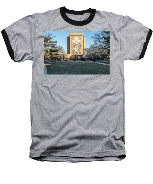 Notre Dame Touchdown Jesus  Baseball T-Shirt