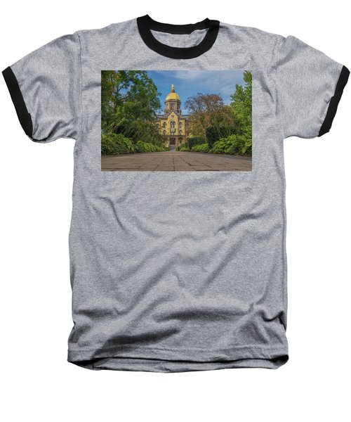 Notre Dame University Q Baseball T-Shirt by David Haskett