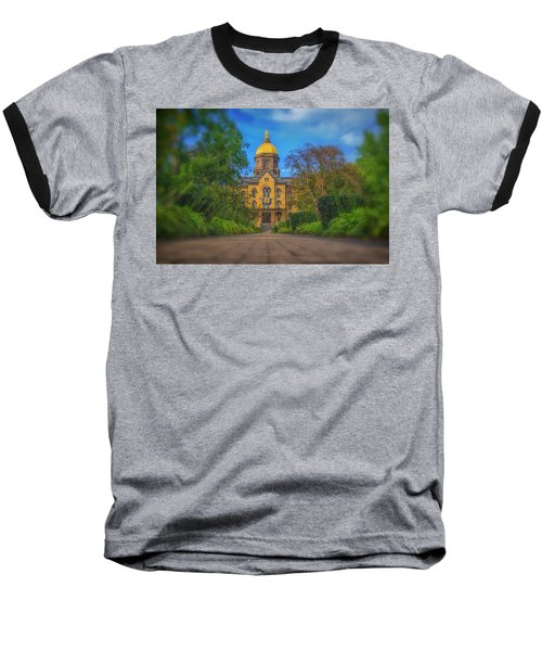 Notre Dame University Q2 Baseball T-Shirt by David Haskett