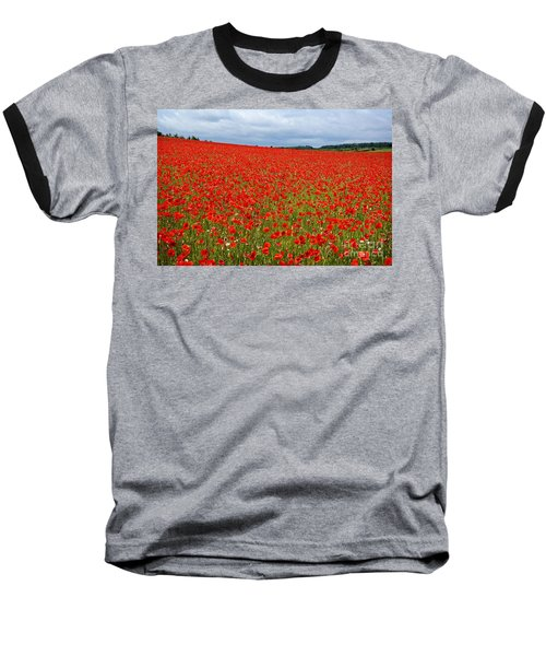 Nottinghamshire Poppy Field Baseball T-Shirt