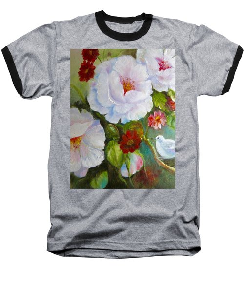 Baseball T-Shirt featuring the painting Noubliable  by Patricia Schneider Mitchell