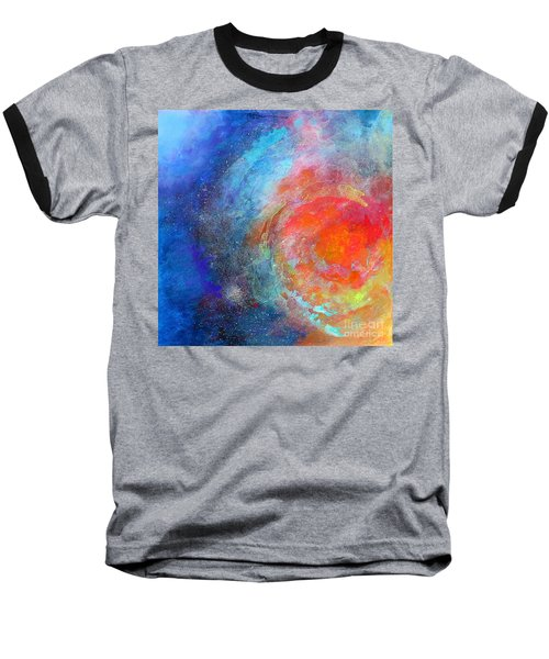 Fantasies In Space Series Painting. Nova Concerto. Acrylic Painting. Baseball T-Shirt