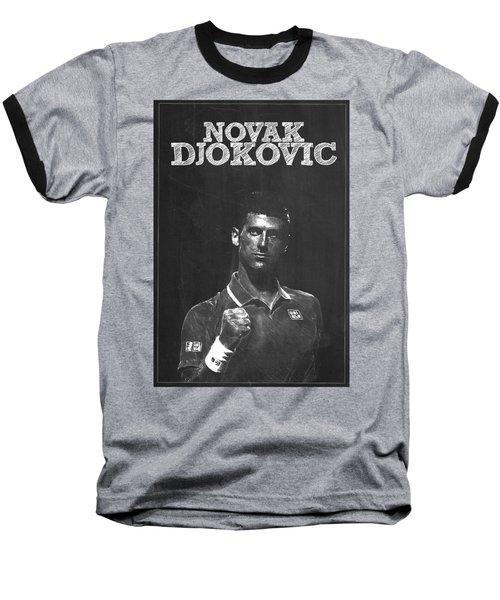 Novak Djokovic Baseball T-Shirt by Semih Yurdabak