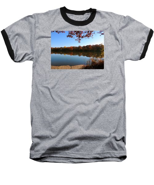 Baseball T-Shirt featuring the photograph November Colors by Teresa Schomig