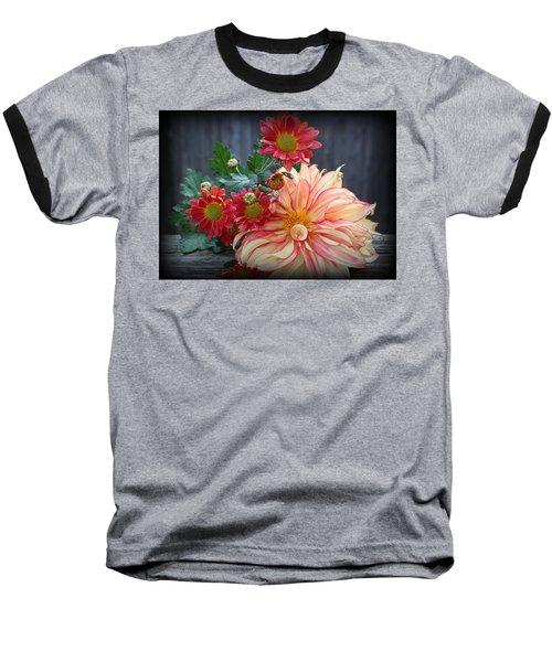 November  Flowers - Still Life Baseball T-Shirt by Dora Sofia Caputo Photographic Art and Design