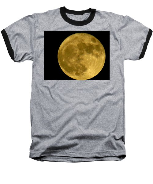Baseball T-Shirt featuring the photograph November Full Moon by Eric Switzer