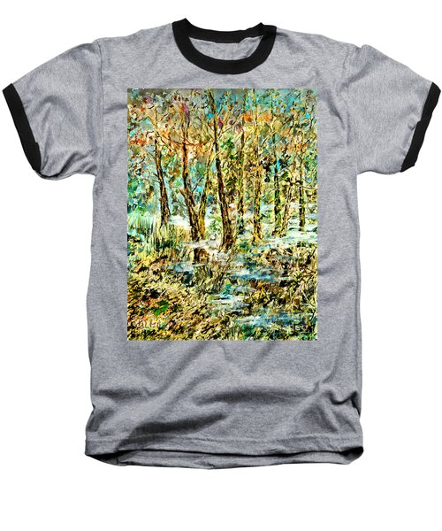 Baseball T-Shirt featuring the painting November Morn by Alfred Motzer