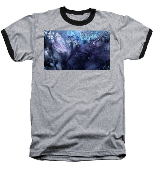 November Rain - Contemporary Blue Abstract Painting Baseball T-Shirt