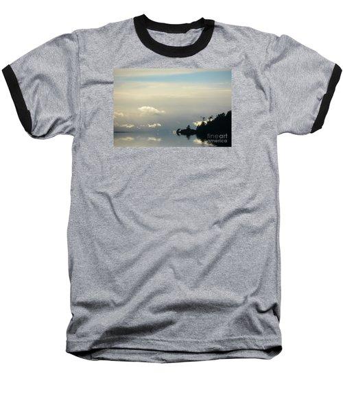 November Sky Baseball T-Shirt by Elaine Hunter