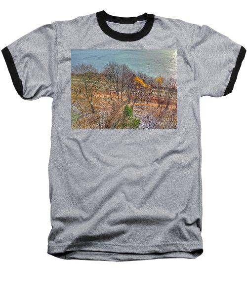 November Snow On Casco Bay Baseball T-Shirt by Patricia E Sundik