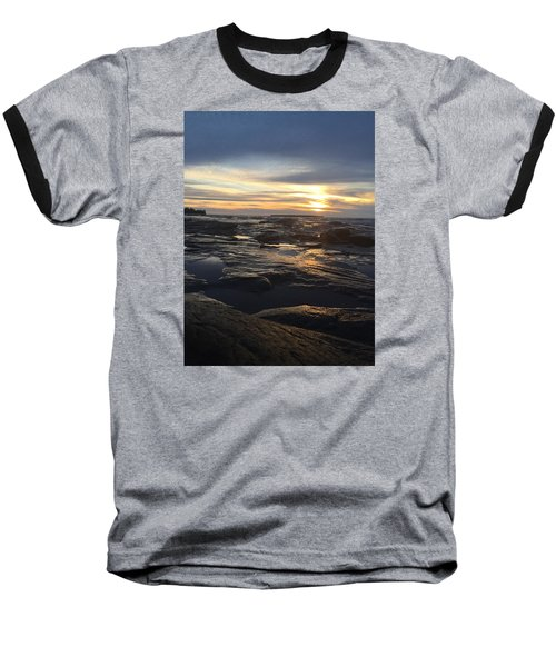 November Sunset On Lake Superior Baseball T-Shirt