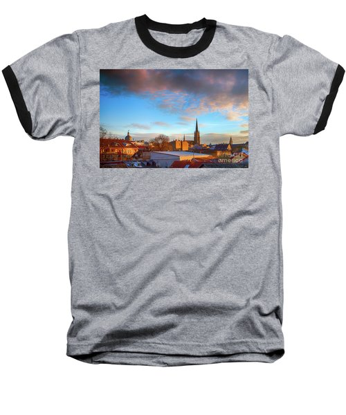 Novi Sad Roofs Lit By The Setting Sun Baseball T-Shirt