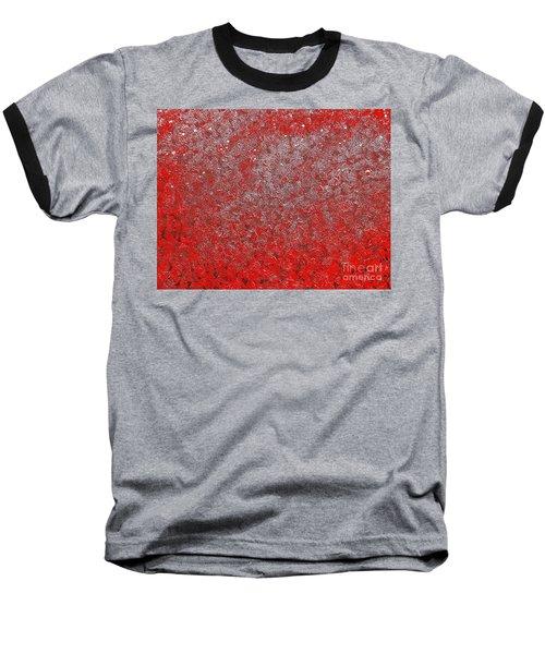 Now It's Red Baseball T-Shirt by Rachel Hannah
