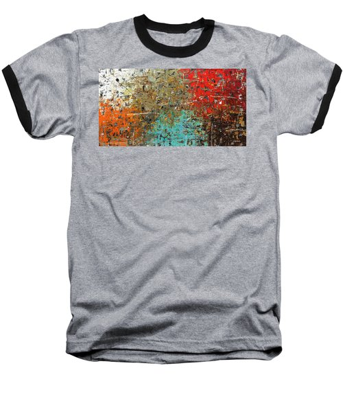 Baseball T-Shirt featuring the painting Now Or Never by Carmen Guedez