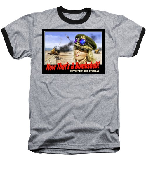 Baseball T-Shirt featuring the photograph Now Thats A Bombshell by Don Olea