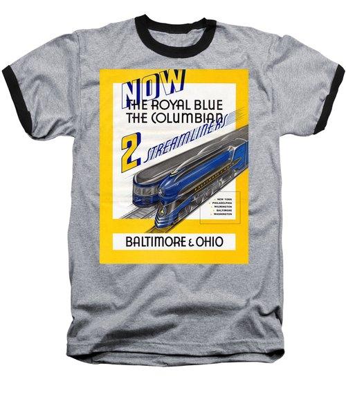 Now The Royal Blue The Columbian Baseball T-Shirt
