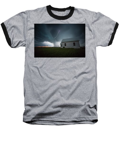 Baseball T-Shirt featuring the photograph Nowhere To Run by Aaron J Groen