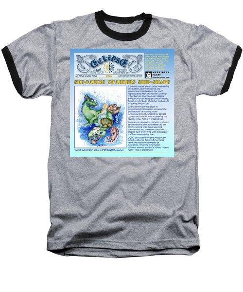 Real Fake News Excerpt Ship Shape Baseball T-Shirt