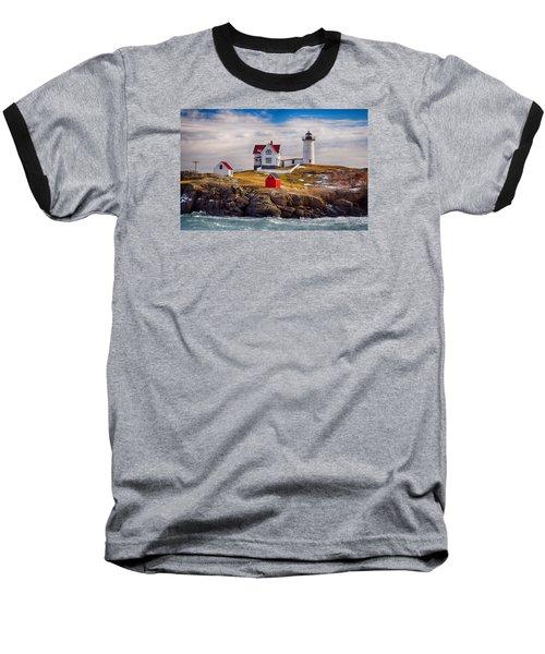 Nubble In Winter Baseball T-Shirt