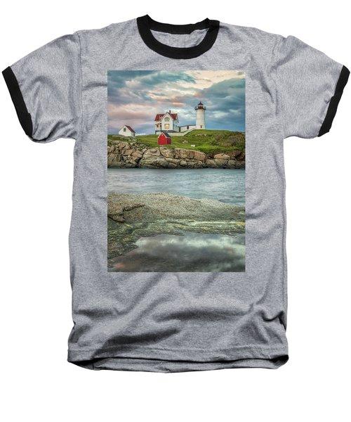 Nubble Light Baseball T-Shirt by Brian Caldwell