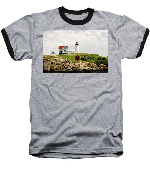 Nubble Light House  Baseball T-Shirt