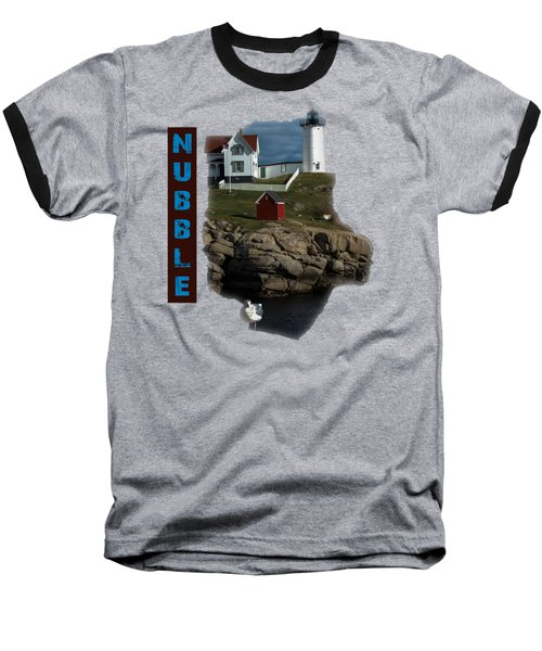 Baseball T-Shirt featuring the photograph Nubble T-shirt by Mim White