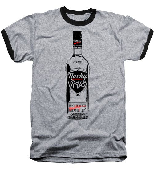 Nucky Thompson Boardwalk Rye Whiskey Tee Baseball T-Shirt by Edward Fielding