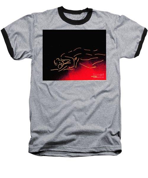 Nude Sleeping Couple Baseball T-Shirt